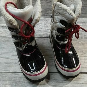 Winter Totes Girls Snow Boots sz 11-11.5